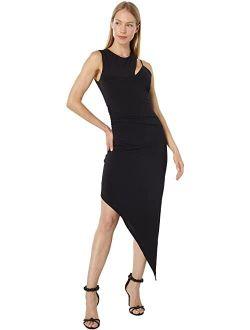 Jersey Asymmetrical Cutout Cocktail Dress
