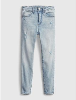 Kids High-Rise Skinny Ankle Jeggings with Washwell™