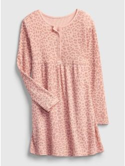 Kids Waffle-Knit Henley Dress