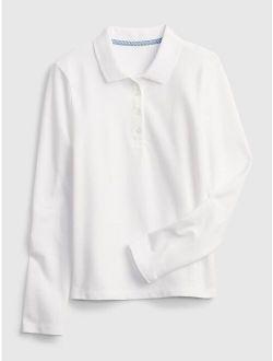 Kids Organic Cotton Uniform Polo T-Shirt