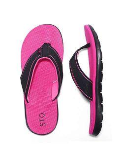 Women's Flip-flop Non Slip Comfortable Memory Foam Thong Sandals For Outdoor