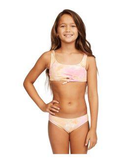 Big Girls Knotted Tank 2-Piece Bikini Set