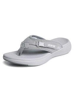 Women's Arch Support Flip Flops Comfortable Thong Sandals