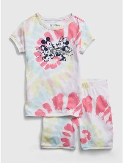 S | Disney Mickey And Minnie Mouse 100% Organic Cotton Pj Set