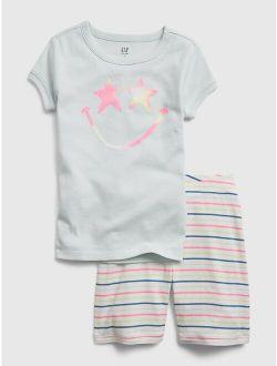 Kids 100% Organic Cotton Star Face Graphic PJ Set