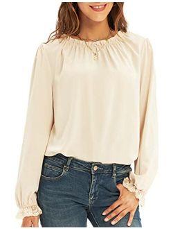 Women's Chiffon Blouses Summer Casual Lace Tank Tops Sleeveless Shirts Ruffle Neckline Fashion Vest Loose Fit