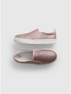 Kids Glitter Slide-On Shoes