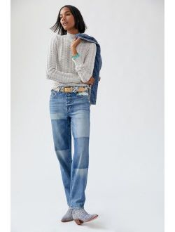 AMO Harlow Patchwork Straight Jeans
