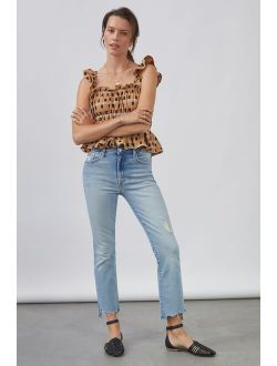 MOTHER The Insider Cropped Bootcut Jeans