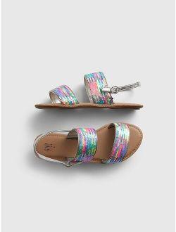 Kids Flippy Sequin Sandals
