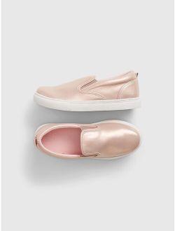 Kids Shine Slip-On Shoes