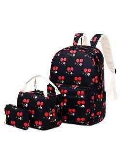 Flower school backpack kids school bag set with handbags pen pencil bag floral girl backpacks for school children bookbag