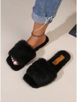 Minimalist Fluffy Slippers