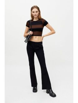 UO Bengaline Low-Rise Flare Pant