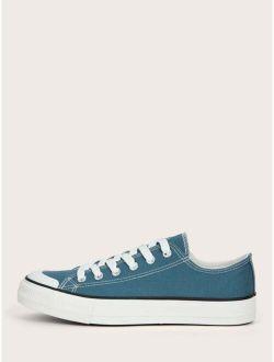 Lace Up Front Canvas Shoes