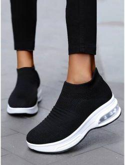 Minimalist Knit Chunky Slip On Sneakers