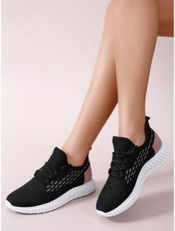 Two Tone Lace-Up Front Running Shoes