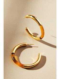 Shyla London Tipped Hoop Earrings