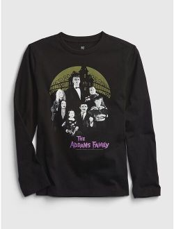 Kids 100% Organic Cotton The Addams Family Graphic T-Shirt