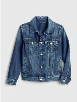 Kids Long Sleeve Denim Icon Jacket