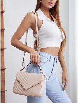 Chevron Satchel Bag