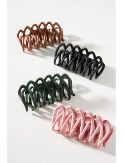 Tonal Matte Claw Hair Clip Set
