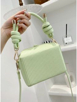 Stitch Detail Satchel Bag