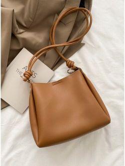 Minimalist Knot Decor Shoulder Bag