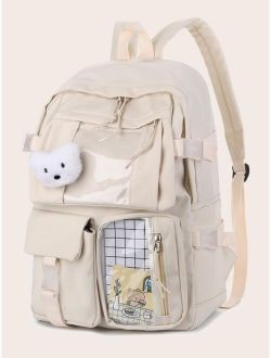 Clear Detail Large Capacity Backpack