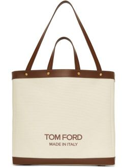TOM FORD Off-White Medium T Screw Tote