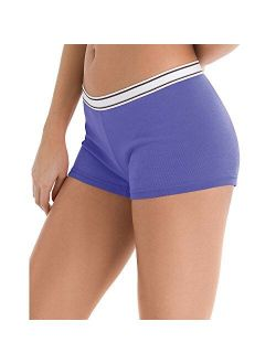 Women's Cotton Boy Brief Panties 6-pack
