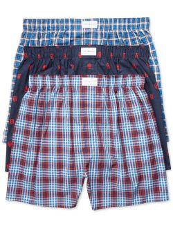Men's 3 Pack Woven Cotton Boxers