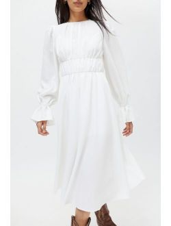 Fame And Partners Dyanis Georgette Midi Dress