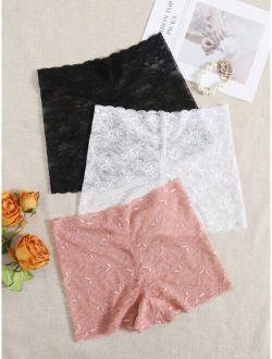 3pack Floral Lace Shortie