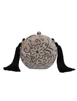 Fawzia Velvet Sequin Embroidery Wedding Clutch Evening Bags
