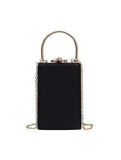 Evening Bag for Women, Suede Evening Purses Crossbody Shoulder Clutch Purses