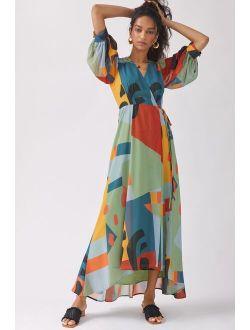 Hutch Geo Wrap Maxi Dress