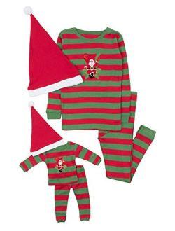 Kids & Toddler Pajamas Matching Doll & Girls Pajamas 100% Cotton Christmas Pjs Set (2-14 Years) Fits American Girl
