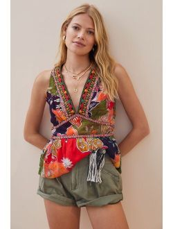 Verb by Pallavi Singhee Floral Embroidered Tank