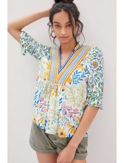 Bl-nk Stephanie Embroidered Top