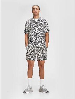 Linen-Cotton Button-Front Shirt