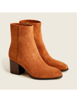 New Sadie stacked-heel boots in suede