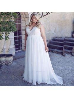 Vestido de Noiva Plus Size Wedding Dress Lace V Neck Maternity Wedding Gowns for Pregnant Women Custom Made Bride Dresses 2020