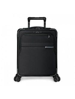 Baseline-softside Cx Expandable Medium Checked Spinner Luggage, Black, 25-inch