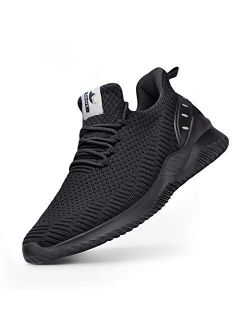 Athletic Walking Shoes For Men- Slip On Sneakers Non Slip Lightweight Breathable Mesh For Indoor Outdoor Gym Travel Work Casual Tennis Running Shoes