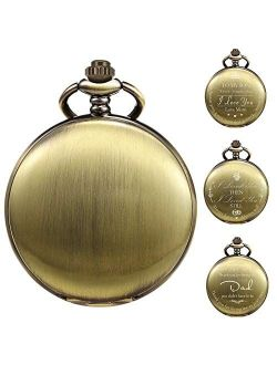 Pocket Watch Personalized Engraved Pocket Watch With Chain Men's Birthday Father's Day Father's Day Gift