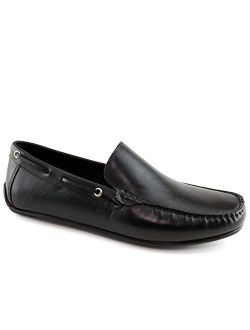 MJNY Mens Casual Comfortable Genuine Leather Lightweight Driving Moccasins Classic Fashion Venetian Loafer Slip On Breathable Driving Loafer