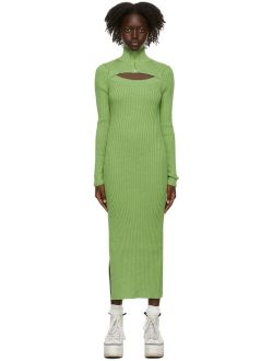 MSGM Green Cut-Out Dress