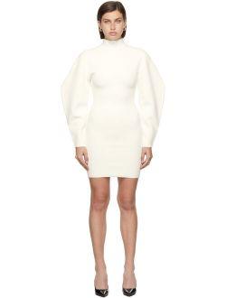 Herve Leger White Contour Mini Dress