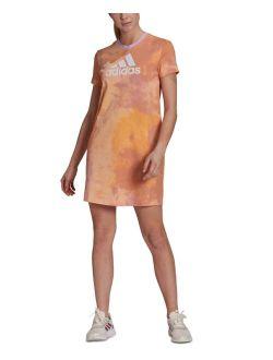 Women's Cotton Tie-Dyed T-Shirt Dress